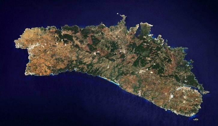 Imagen de satélite de la isla de Menorca